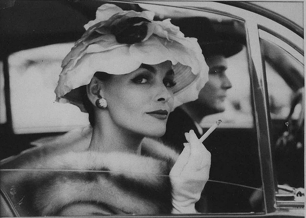 Woman with Hat, Smoking