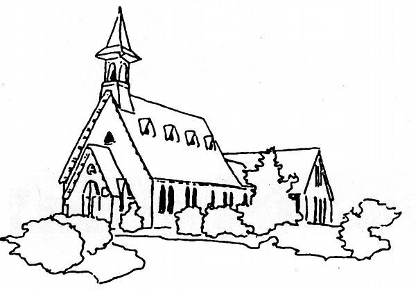 Church Line Drawing Palisades Presbyterian Church