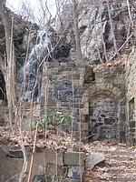 Waterfall stonework