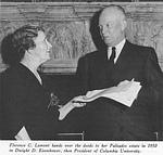 Mrs. Lamont and President Eisenhower